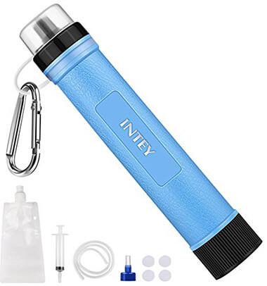 INTEY Mini Water Purifier, Portable Water Filter Straw