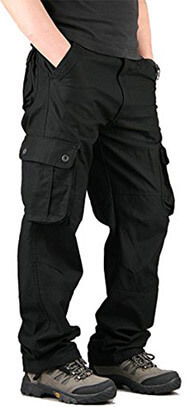 CloSoul Direct Men's Military Cargo Pants Cotton Tactical Trousers