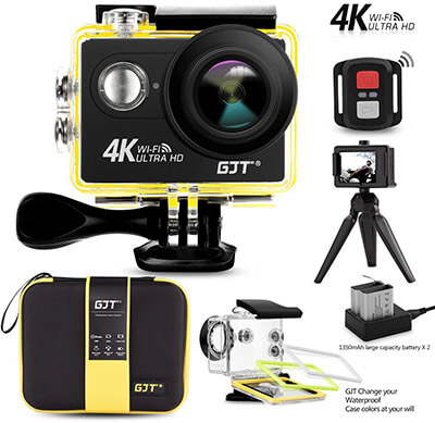 GJT GP1R 4K Ultra HD WiFi Sports Action Camera, 12MP, 30M Waterproof DV Camcorder
