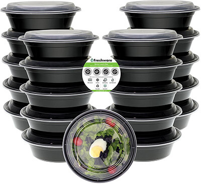 Freshware Meal Prep Containers Bowls with Lids, [21-Pack]