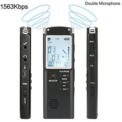 FecPecu Digital Voice Recorder, Multifunctional Dictaphone HD Recording