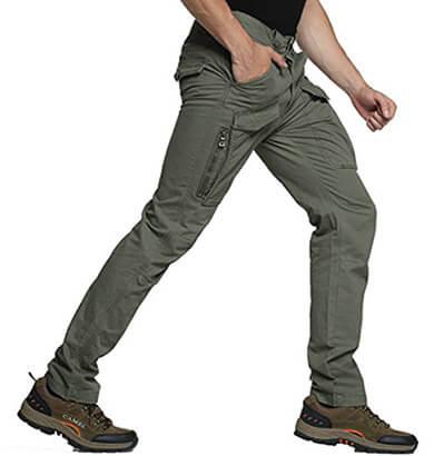 Nian SEMARO Four Seasons Men's Tactics Slim Cargo Pants Casual Work