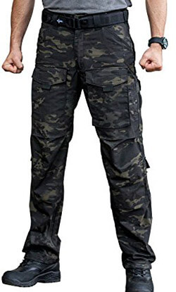 FREE SOLDIER Men's Tactical Pants Multi-pocket Heavy-Duty Pants