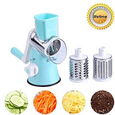 ZOLLOR Fruit and Vegetable Slicer, Spiralizer, Cutter, Cheese Chopper Shredder
