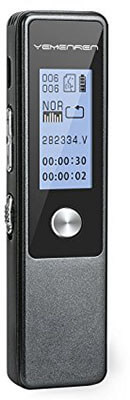 YEMENREN 3072Kbps Digital Voice Recorder, 8GB Dual Microphones