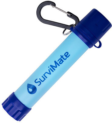 SurviMate Emergency Water Filter System for Outdoor Camping, Hiking and Scouting