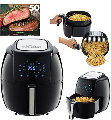 GoWISE USA Programmable 8-in-1 Air Fryer XL, 5.8-QT