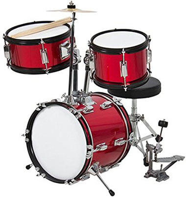Best Choice Products 3 Pc 13-Inch Beginners Complete Kids Drum Set