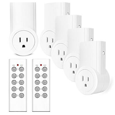 Etekcity Wireless Remote Controlled Electrical Outlet Switch