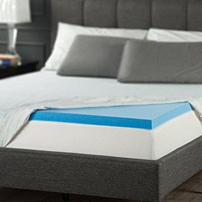 Zinus 2-Inch Gel Memory Foam Mattress Topper – Twin