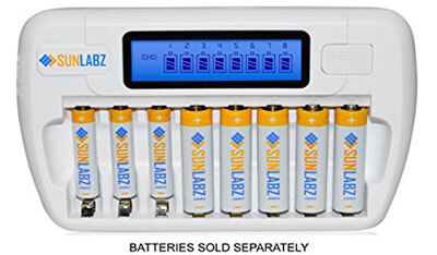 SunLabz Smart Battery Charger – AA, AAA, NiMH & NiCD Batteries