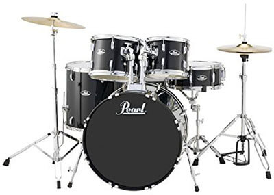 Pearl RS525SCC31 Roadshow, 5-Piece Drum Set Jet Black