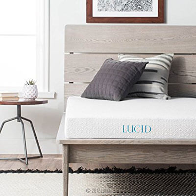 LUCID Gel Memory Foam Mattress 5 Inch -Dual-Layered and CertiPUR-US Certified