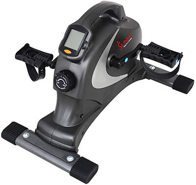 Sunny SF-B0418 Health and Fitness Magnetic Mini Exercise Bike, Gray