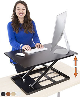 Stand Steady X-Elite Pro Height Adjustable Desk Converter