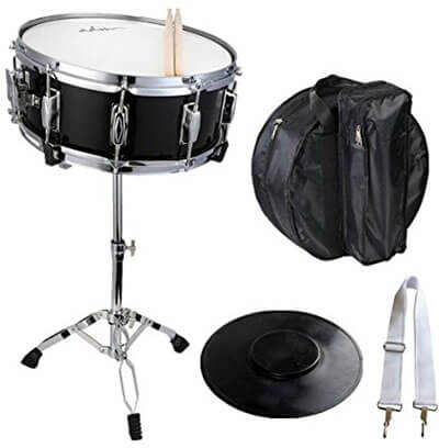 ADM Student Snare Drum Set, with, Sticks, case, Practice Pad Kit & stand