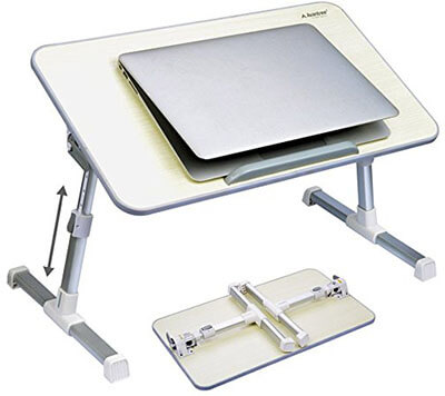 Avantree Adjustable Laptop Table - Mini Table Beige