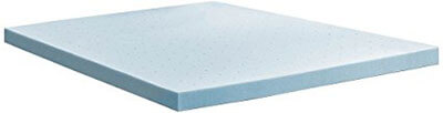 LUCID 3-in Gel Memory Foam Mattress Topper, Queen
