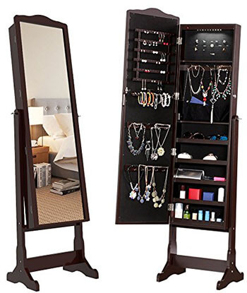 Langria Free Standing Jewelry Armoire