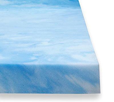 Sure2Sleep High-Density Plush Gel Memory Foam Mattress Topper, 2-Inch – Cal King