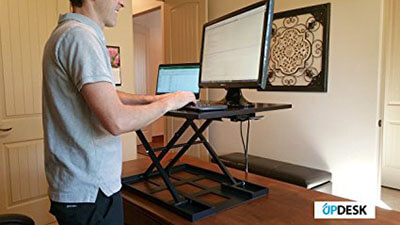 Calliger UpDesk Office Standing Desk, Sit Stand Up Computer Workstation