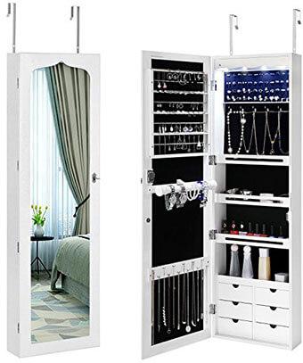 Songmics UJJC88W Jewelry Storage Cabinet