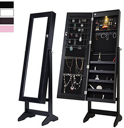 Cloud Mountain Mirror Jewelry Armoire