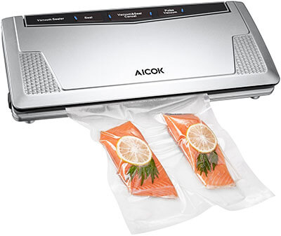 Aicok Vacuum Sealer, Automatic Vacuum Sealing Machine, 3MM Sealer Width