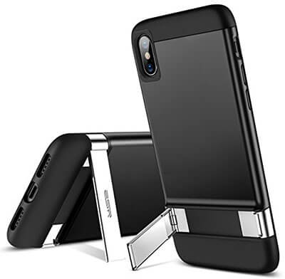 ESR iPhone X Case, with a metal kickstand
