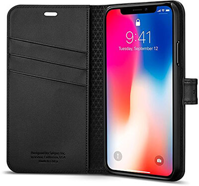 Spigen iPhone X Case - Foldable Cover and Kickstand