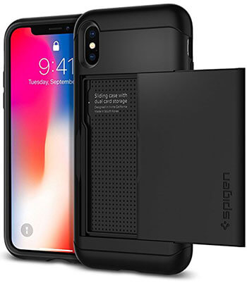 Spigen Slim Dual Layer Armor CS iPhone X Case with Slim