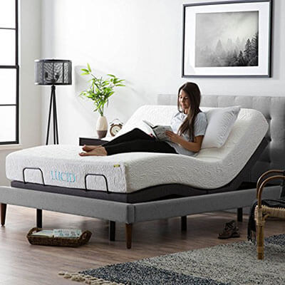 LUCID L300 Adjustable Bed Base, Motorized - Queen