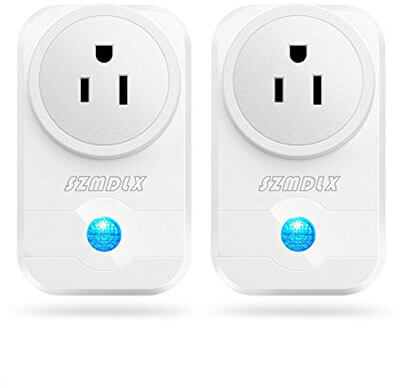 SZMDLX Wifi Plug Wireless Outlet Wifi Timer Socket Remote Control, 2 Packs