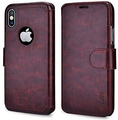 Filoto Premium PU Leather Wallet Case for iPhone X