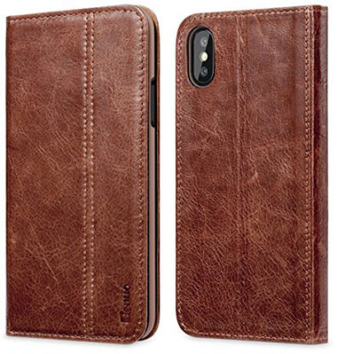 Benuo Genuine Leather Case Vintage Book iPhone X Case