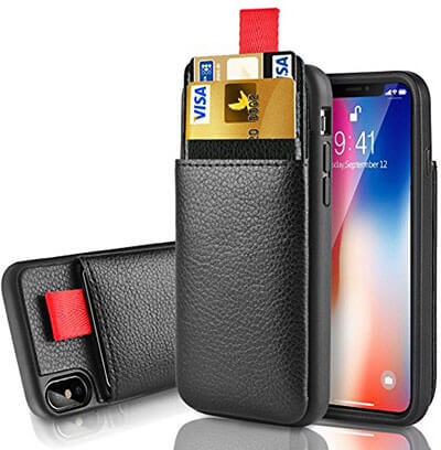 Lameeku Protective iPhone X Leather Case