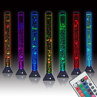SensoryMoon 3.9 ft. Bubble Tube Floor Lamp with Color Remote