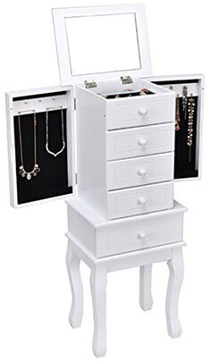 Giantex Standing Jewelry Armoire