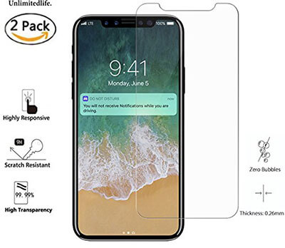 UnlimitedLife iPhone X Screen Protector