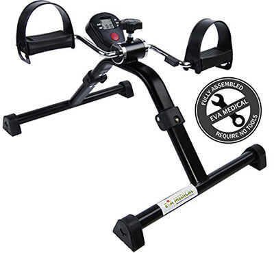Medical Pedal Exerciser with Folding designs Electronic Display for Legs and Arms Workout