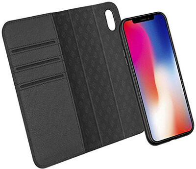 Zover iPhone X Leather Wallet Case