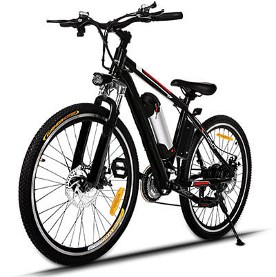 Tomasar Power Electric Bike, 25 inch Wheel Cyclocross Bike with Li-ion Removable Battery