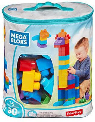 Mega Blocks Big Building Bag, 80-Piece Classic