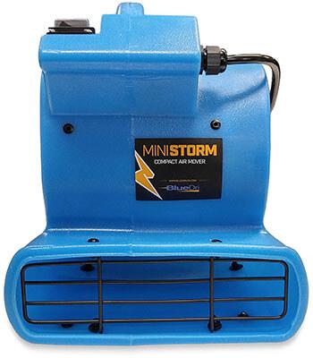 Soleaire Mini-Storm 380 CFM, 1/12 HP Mini Air Mover Carpet Dryer Floor Blower Fan, 380 CFM