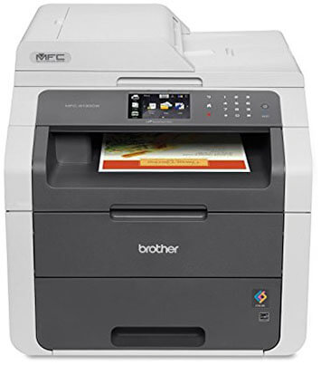 Brother MFC9130CW All-In-One Wireless Printer, Scanner, Copier and Fax