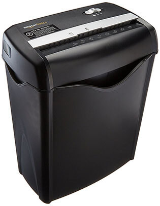 AmazonBasics Cross-Cut Paper Shredder