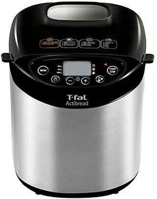 T-fal PF311E ActiBread Programmable Automatic Bread Machine, Stainless Steel Housing Nonstick Coating