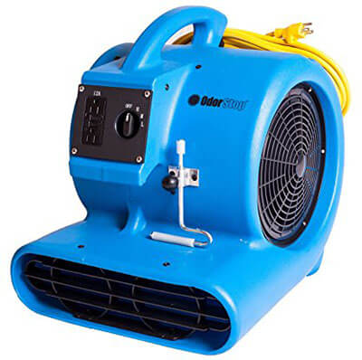 Odorstop OS2800 1500 RPM 3/4 HP 3-Speed Carpet Dryer/Air Mover