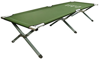VIVO Cot, Portable for Camping, Military Style Fold up Bed with a carry bag