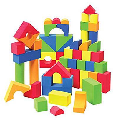 Liberty Imports EVA Foam Creative Educational Building Blocks, 131 Pcs